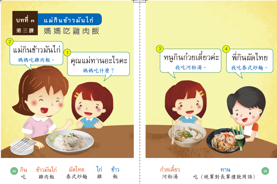 泰語 學習教材 教材分析 新住民語文