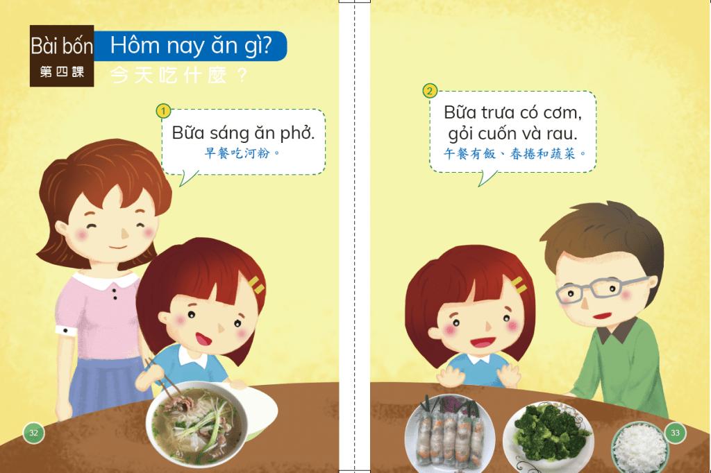 越南語 第二冊 第四課 教材分析  Hôm nay ăn gì?