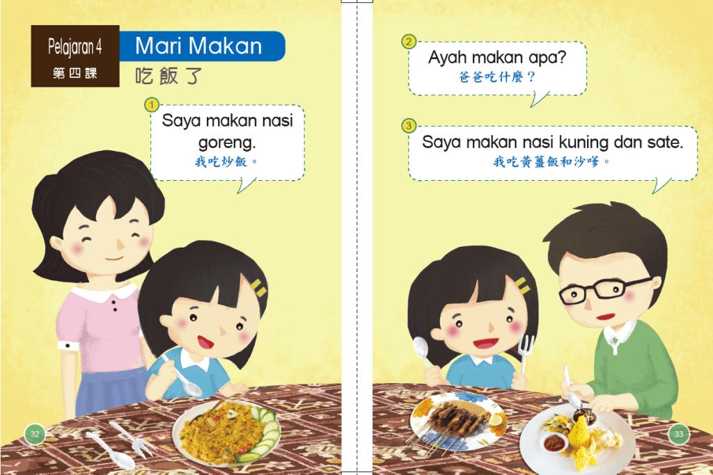 印尼語 第二冊 第四課 教材分析  Mari Makan 吃飯了